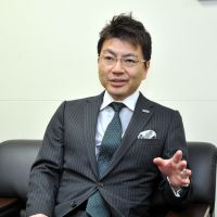 Yuji Kimura, CEO of Polaris Capital Group, is interviewed at his office in Tokyo in mid-February. | YOSHIAKI MIURA