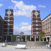 International: Students from around the world come to APU in Beppu, Oita Prefecture.   APU