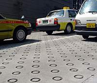 Indented circles on roads