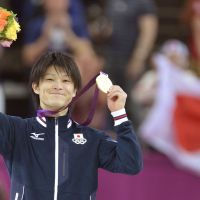 Practice makes perfect: Gold-medal winning gymnast Kohei Uchimura has said 'I don't believe in God. I never had lucky charms. All I believe in is practice.'   KYODO