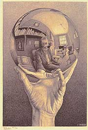 'Hand with Reflecting Sphere' (1935), by M.C. Escher