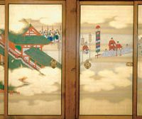 Sumiyoshi Hirotsura's 'New Year's Greetings to the Emperor,' now showing at the Kyoto National Museum | IMAGES COURTESY OF THE KYOTO IMPERIAL PALACE