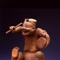 Han Dynasty Pottery Figure of Storyteller (2nd century A.D.) from the National Museum of China in Beijing, now showing at the Tokyo National Museum   IMAGES COURTESY OF THE TOKYO NATIONAL MUSEUM