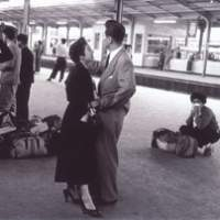 A 1954 photograph by Magnum Photos founder Robert Capa of two lovers at Tokyo Station, now showing at the Tokyo Metropolitan Museum of Photography. | COURTESY OF MAGNUM PHOTOS