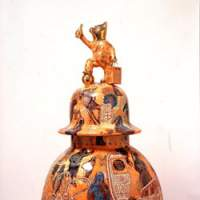 Grayson Perry's glazed ceramic vase 'What's Not to Like?' (2006) | COURTESY OF THE ARTIST/VICTORIA MIRO GALLERY