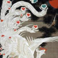 Ito Jakuchu's 'White Phoenix on Old Pine from the Colourful Realm of Living Beings' (Edo Period) | COURTESY OF SANNOMARU SHOZOKAN