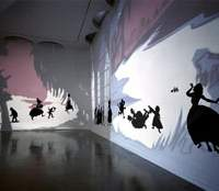 Kara Walker's installation 'Insurrection! (Our Tools Were Rudimentary, Yet We Pressed On)' (2000) at the Museum of Contemporary Art Shanghai | COURTESY OF MOCA