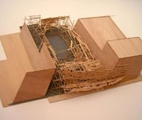 A model of an early work by Tadashi Kawamata, produced during the exhibition at the Museum of Contemporary Art, Tokyo | DONALD EUBANK PHOTOS