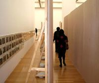 The first floor exhibition room at the Museum of Contemporary Art, Tokyo