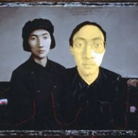 Zhang Xiao Gang's 'Painter with Mother as Young Woman' (1993)   NACT PHOTO