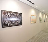 Mitsubishi is showing young artists' works in their offices before selling them to new collectors.