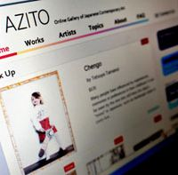 Azito, the online art gallery Rasa Tsuda established last year with the aim of increasing exposure for Japanese artists abroad.