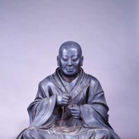 The founder: 'Seated Portrait of Honen Shonin' (Posthumously Known as Enko Daishi). | OKU-NO-IN TEMPLE, NARA PREFECTURE