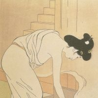 Onsen reflections: 'Hot Springs Inn Woman' (1920) by Goyo Hashiguchi.  COURTESY OF KAGOSHIMA CITY MUSEUM OF ART