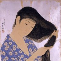 The fairer sex: Goyo Hashiguchi's 'Woman Combing Her Hair' (1920).  COURTESY OF CHIBA CITY MUSEUM OF ART