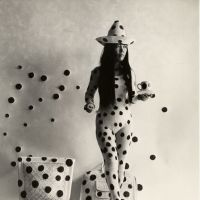 Yayoi Kusama in 'Performance Self-Obliteration by Dots,' (1968)   HAL REIFF