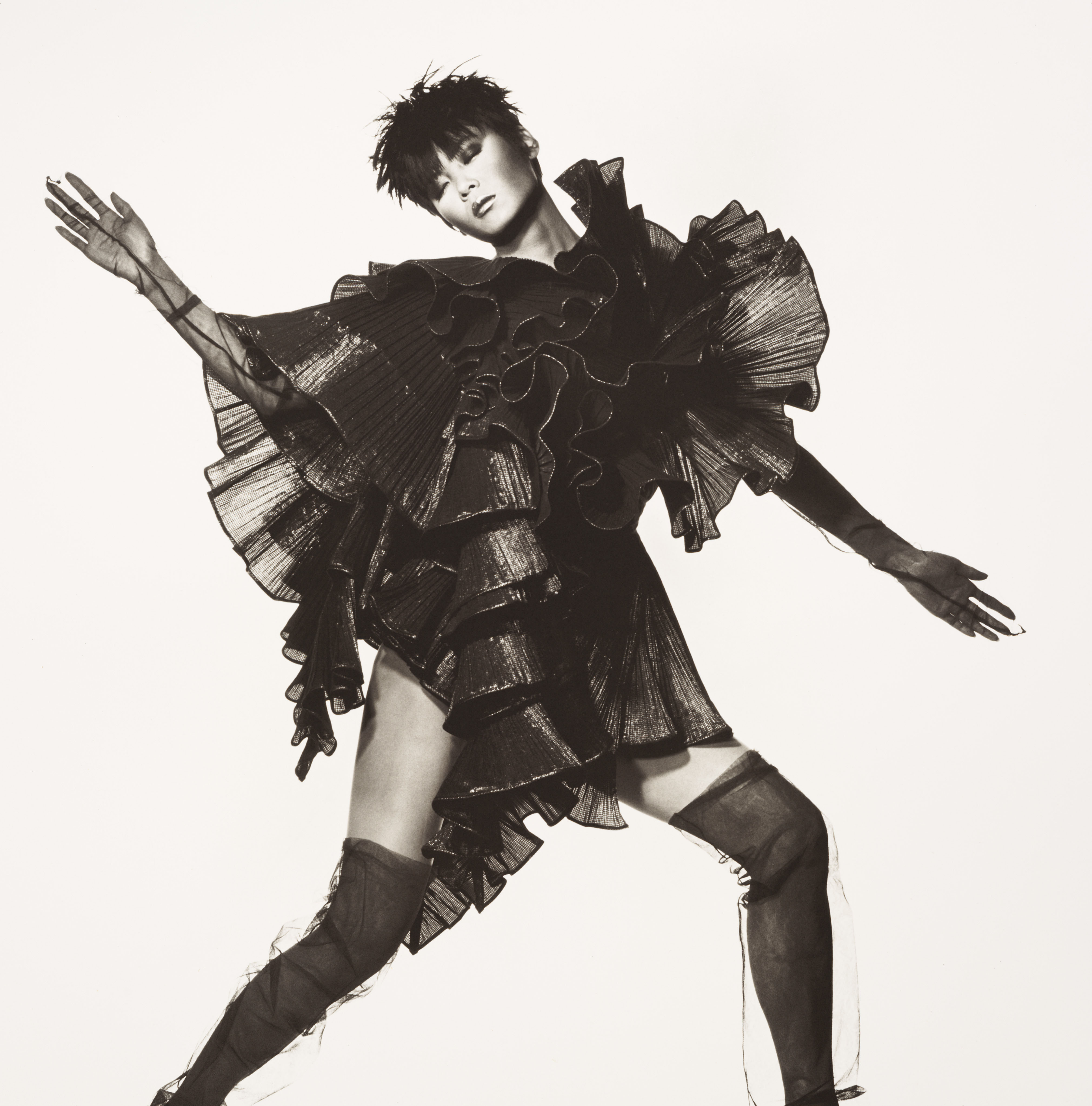 Irving Penn. Issey Miyake Seaweed Dress, New York, 1994; platinum/palladium print. | © THE IRVING PENN FOUNDATION