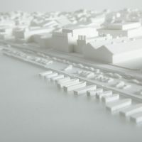 A new future for architecture: A close-up photograph of one of the model displays at '311: LOST HOMES,' now showing at Toto Gallery Ma in Tokyo. | AKIHIRO ITO