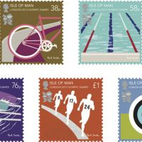 Good sport: The London 2012 Olympic Games stamps, designed by Sir Paul Smith.