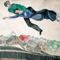 'Above the Town' (1914-18,) by Marc Chagall | THE STATE TRETYAKOV GALLERY PHOTOGRAPHY © THE STATE TRETYAKOV GALLERY © ADAGP, PARIS & SPDA, TOKYO, 2012, CHAGALL ®