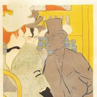 Henri de Toulouse-lautrec 'The Englishman at Moulin Rouge' (1892)