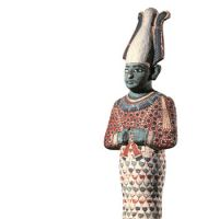 God only knows: Painted wooden figure of Osiris (from around 1090 B.C.).