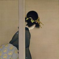 'Waiting for the Moon' (1926) by Shoen Uemura.