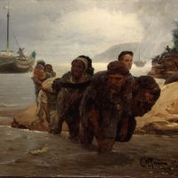 Choosing subjects carefully: Ilya Repin's 'Barge Haulers Crossing a Ford' (1872) | © THE STATE TRETYAKOV GALLERY