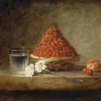 'Basket of Wild Strawberries' (c. 1761) by Jean Simeon Chardin | RMN-GP/RENE-GABRIEL OJEDA/DISTRIBUTED BY AMF-DNP ARTCOM