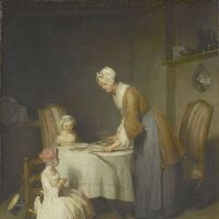 A thought for food: 'Saying Grace' (left) by Jean-Simeon Chardin (1740) | © RMN-GP (MUSEE DU LOUVRE)/FRANCK RAUX/DISTRIBUTED BY AMF-DNPARTCOM