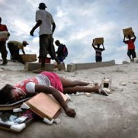 Moving pictures: Jan Dago's photographs of the Haiti earthquake aftermath won First Prize at the awards.   JAN DAGO PHOTO