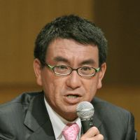 Power play: Liberal Democratic Party lawmaker Taro Kono has long championed reduced reliance on nuclear energy — and it now seems other politicians may be catching up. | KYODO PHOTO