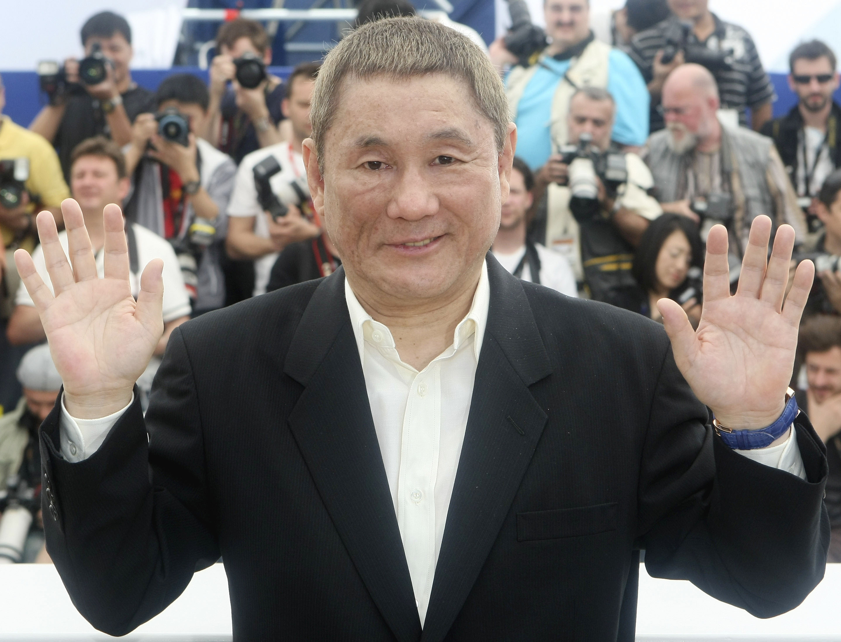 Out of hand: Insensitive comments about same-sex marriage by Takeshi Kitano, seen here at the 2010 Cannes Film Festival in France, have been picked up by the international media while being largely ignored in Japan.