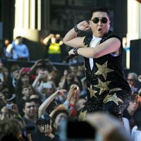 Psyche out: South Korean pop sensation Psy, performing for fans in Sydney on Oct. 17, 2012. The singer's 'Gangnam Style' is mega hit around the world but has largely gone unnoticed in Japan, where the popularity of Korean acts is waning in the wake of the dispute over the Takeshima Islands. | AFP-JIJI