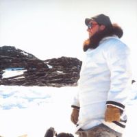 A 'rugged' pose on a snowmobile on Baffin Island in 1990. | C.W. NICOL PHOTOS