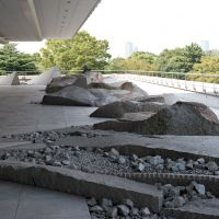 Cutting edge: The Shunmyo Masuno-designed stone garden on the fourth floor of the Canadian embassy makes fine use of the shakkei concept of borrowed views. | STEPHEN MANSFIELD PHOTOS