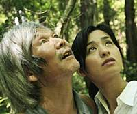 Shigeki Uda (left) and Machiko Ono in 'Mogari no Mori' | (R)KUMIE