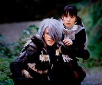 The story's main protagonist, Kitaro, faces danger in the 2007 live-action 'GeGeGe' feature film.   MIZUKI PRO/FUJI TV/TOEI ANIMATION