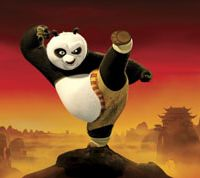 Po pulls a move in 'Kung Fu Panda.'
