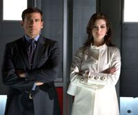 Spies like us: Steve Carell and Anne Hathaway in 'Get Smart.' | © 2008 VILLAGE ROADSHOW FILMS (BVI) LIMITED