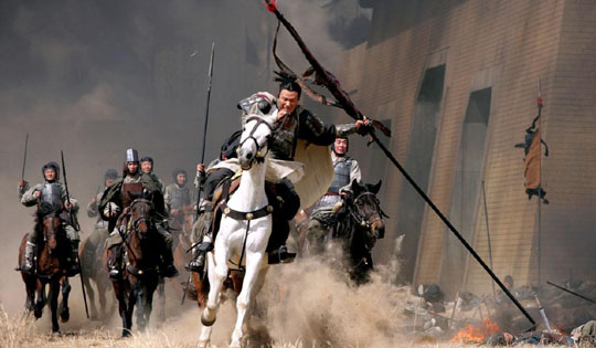 Horseplay: 'Red Cliff' marks John Woo's return to Chinese cinema after a long career in Hollywood.   © 2008 THREE KINGDOMS LTD. © BAI XIAOYAN