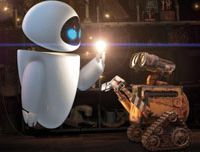 You light up my life: EVE (left) and WALL-E get to know each other | © DISNEY/PIXAR