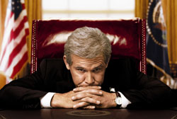 Definitely not JFK: Josh Brolin stars as George W. Bush in Oliver Stone's 'W.' | © 2008 PRESCOTT PRODUCTIONS, LLC ALL RIGHTS RESERVED