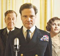 Way with words: Colin Firth (center) as Britain's stammering King George VI. | © 2010 SEE-SAW FILMS. ALL RIGHTS RESERVED.