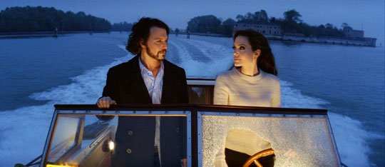 Jolie acts out a teenage crush in 'The Tourist'