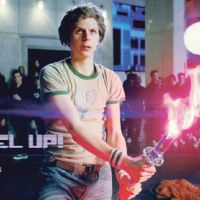Cera's character, Scott, prepares to do battle with one of his girlfriend's evil ex-boyfriends in 'Scott Pilgrim Vs. the World.' | © 2010 UNIVERSAL STUDIOS. ALL RIGHTS RESERVED.