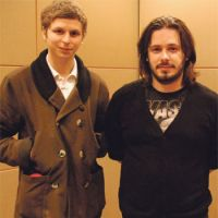Now we're playing with power: Actor Michael Cera (left) and director Edgar Wright spoke with The Japan Times recently in Tokyo.   DANIEL ROBSON PHOTO