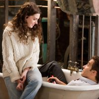 Ready for a rubber duck: Anne Hathaway and Jake Gyllenhaal keep their clothes on (briefly) in 'Love & Other Drugs.' | © 2011 Twentieth Century Fox Home Entertainment LLC. All Rights Reserved.