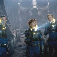 Origin of the species (from left): Charlie (Logan Marshall-Green), Elizabeth (Noomi Rapace) and David (Michael Fassbender) explore the genesis of mankind in 'Prometheus,' the long-awaited return to sci-fi and to the 'Alien' series by director Ridley Scott. The film's core themes have divided moviegoers and critics alike.   © 2012 TWENTIETH CENTURY FOX