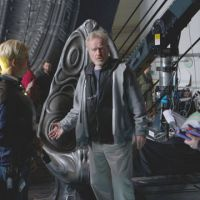 On set: Ridley Scott directs actor Michael Fassbender on the set of his new film, 'Prometheus.'  The filmmaker rose to fame with  science-fiction films and his latest marks a return to the genre. | © 2012 TWENTIETH CENTURY FOX